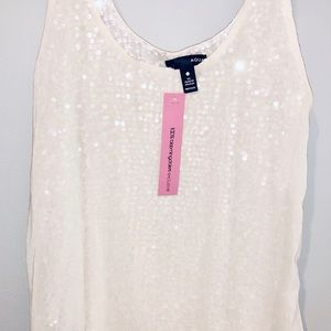 Aqua sequence top size Small. NEW